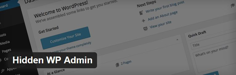 Increase your Wordpress security with the 'Hidden WP Admin' plugin